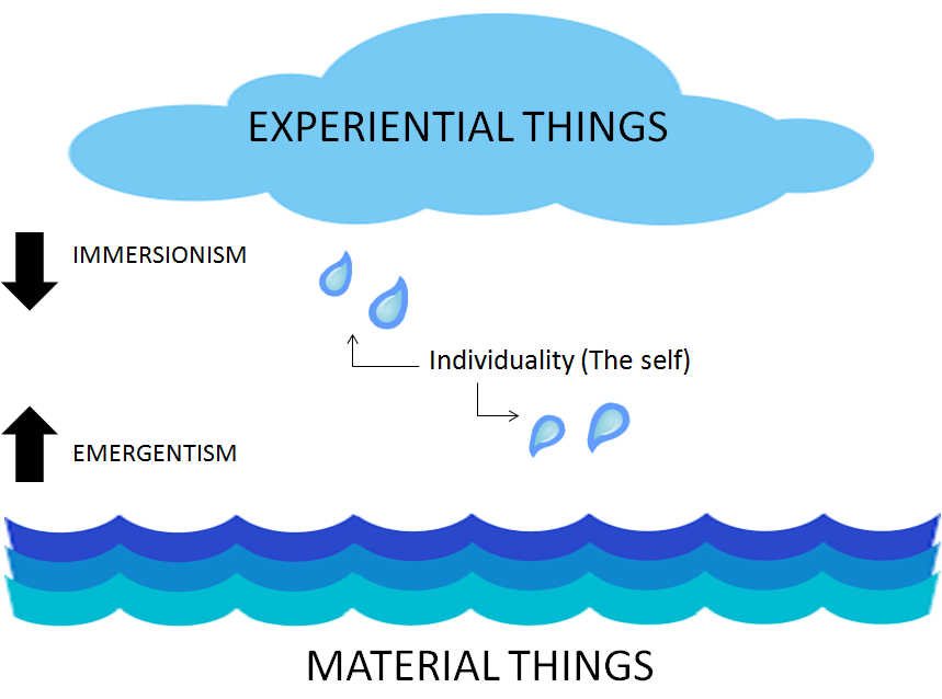 Symmetry between emergentism and immersionism